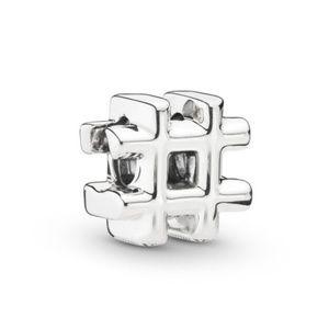Pandora Hashtag Symbol Charm Silver New 925 Ale
